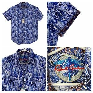 Robert Graham Ewing Style Short Sleeve Shirt Med